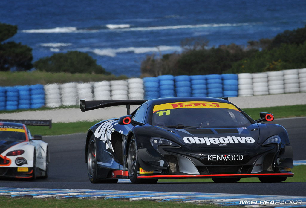 Tony Walls and Warren Luff in the McLaren at Phillip Island in the Australian GT