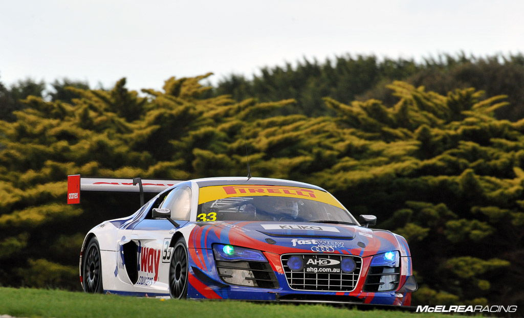 Simon Ellingham and Tim Miles in the Audi R8 at Phillip Island in the Australian GT