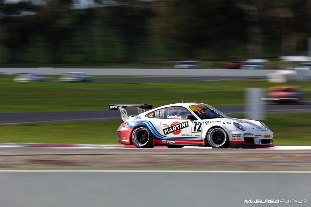Jim Campbell at Winton for the Porsche GT3 Cup Challenge