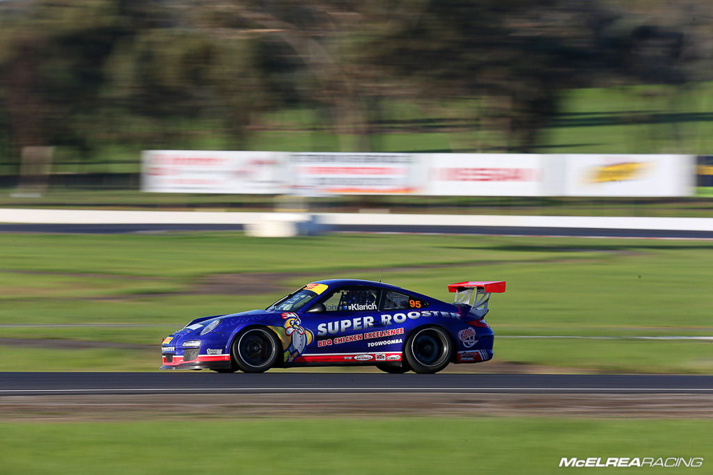 A great weekend for Jake Klarich in the Super Rooster Porsche
