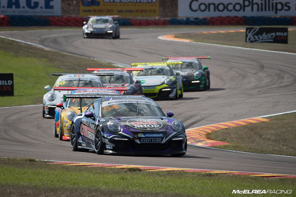 James Abela enjoed racing in the lead pack at Darwin