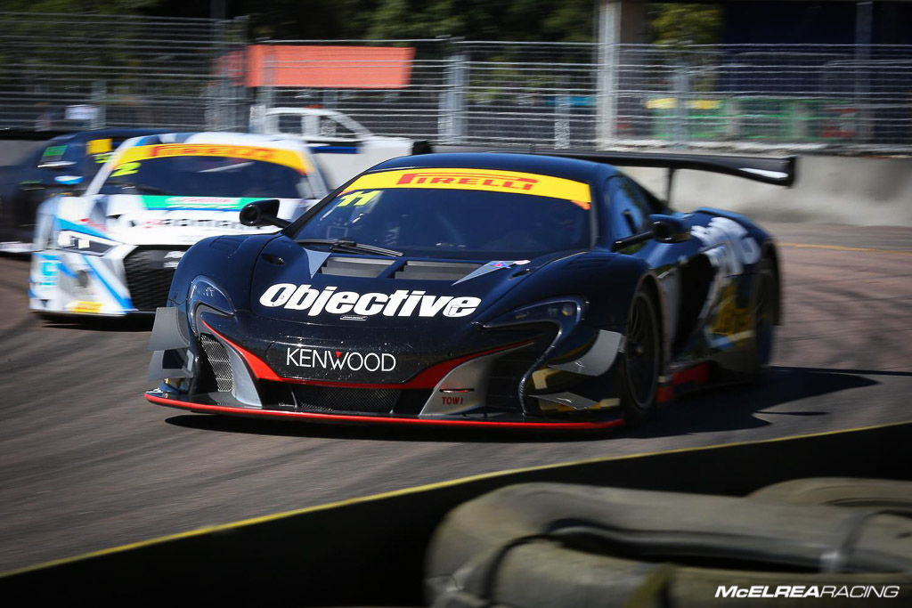 Tony Walls in the Objective McLaren at Townsville