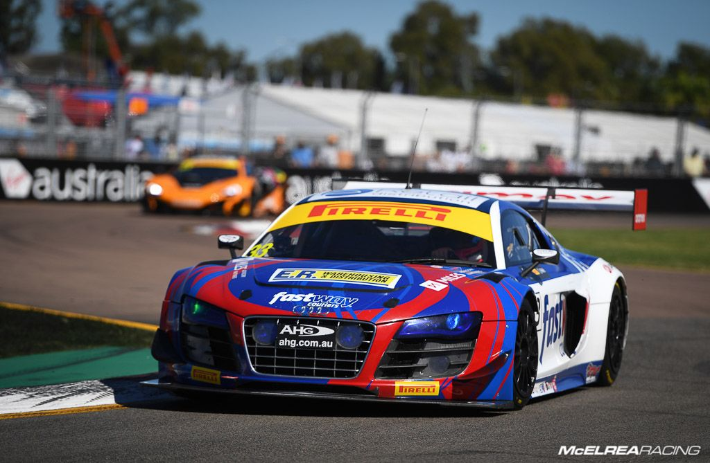 Simon Ellingham in the Fastway Couriers Audi at Townsville