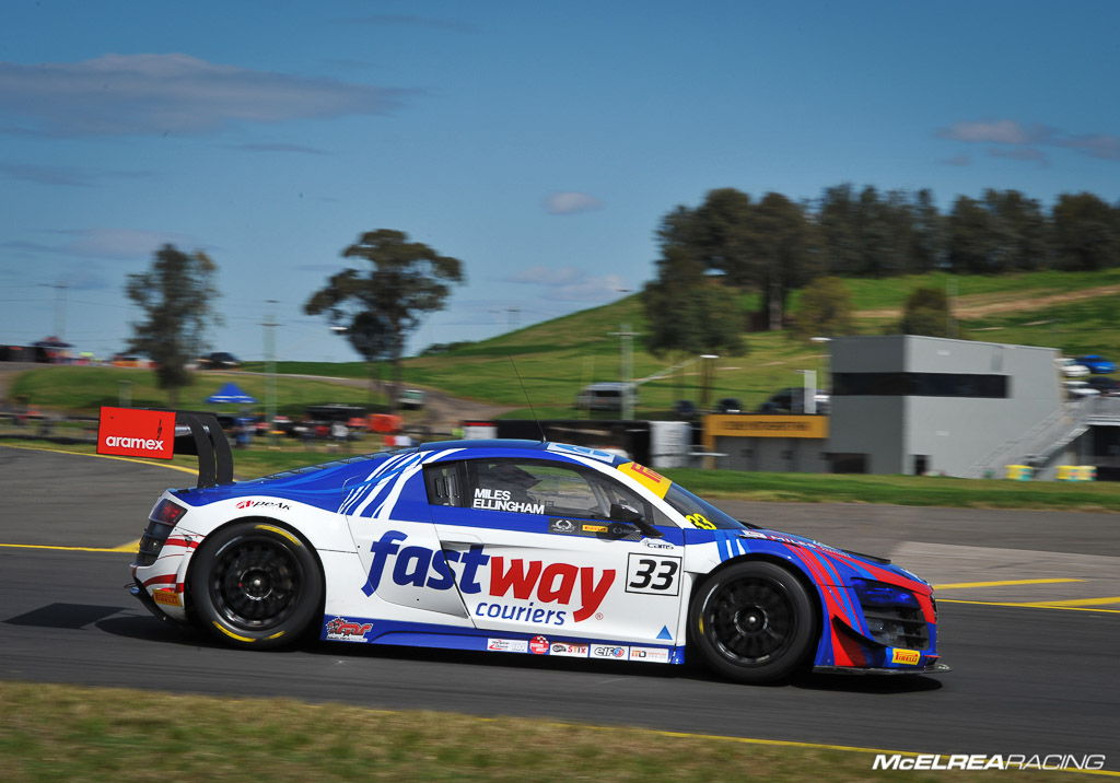 Tim Miles and Simon Ellingham in the Fastway Couriers Audi at Sydney Motorsport Park