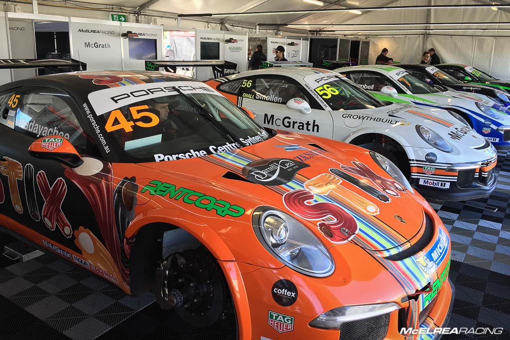 McElrea Racing at Sydney Motorsport Park for the combined Australian and Asian Porsche Carrera Cup
