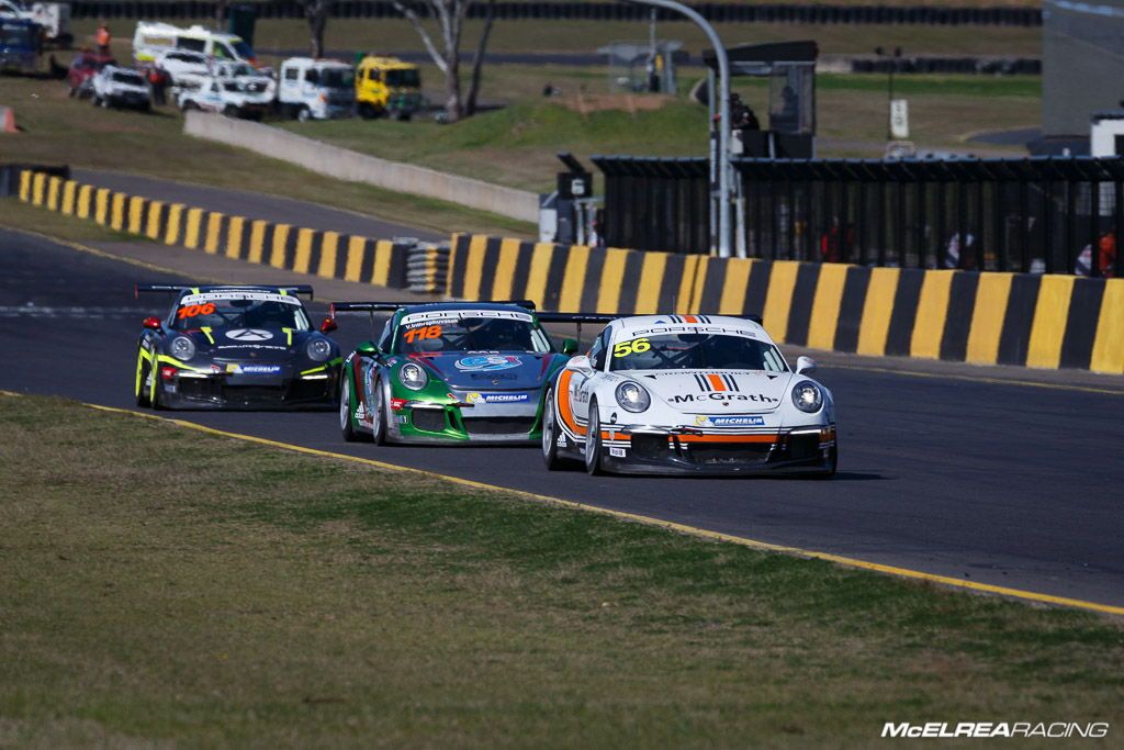Shane Smollen at Sydney Motorsport Park for the combined Australian and Asian Porsche Carrera Cup