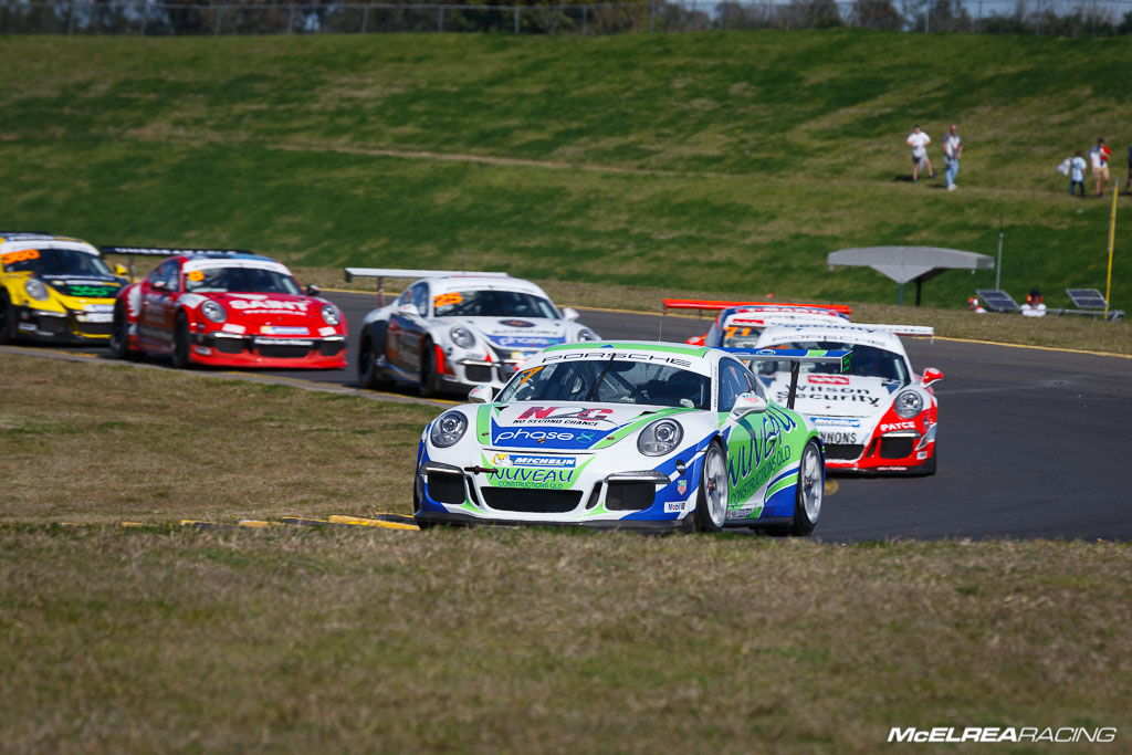 Matt Campbell at Sydney Motorsport Park for the combined Australian and Asian Porsche Carrera Cup