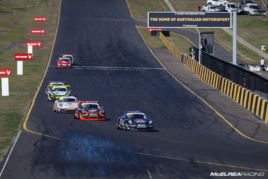 James Abela at Sydney Motorsport Park for the combined Australian and Asian Porsche Carrera Cup