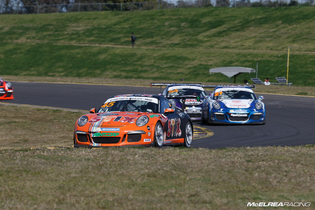 Duvashen Padayachee at Sydney Motorsport Park for the combined Australian and Asian Porsche Carrera Cup