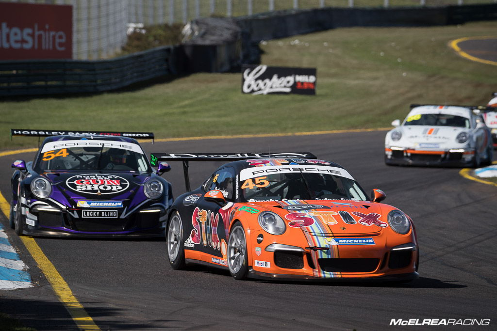Duvashen Padayachee in the Porsche Carrera Cup at Sandown
