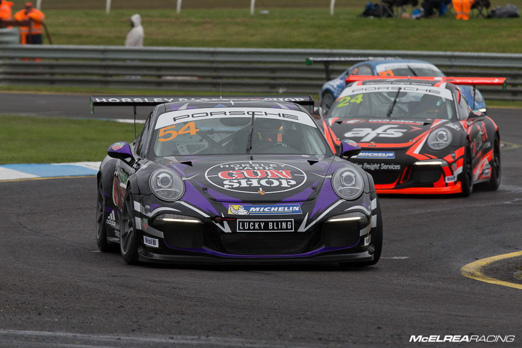 James Abela in the Porsche Carrera Cup at Sandown