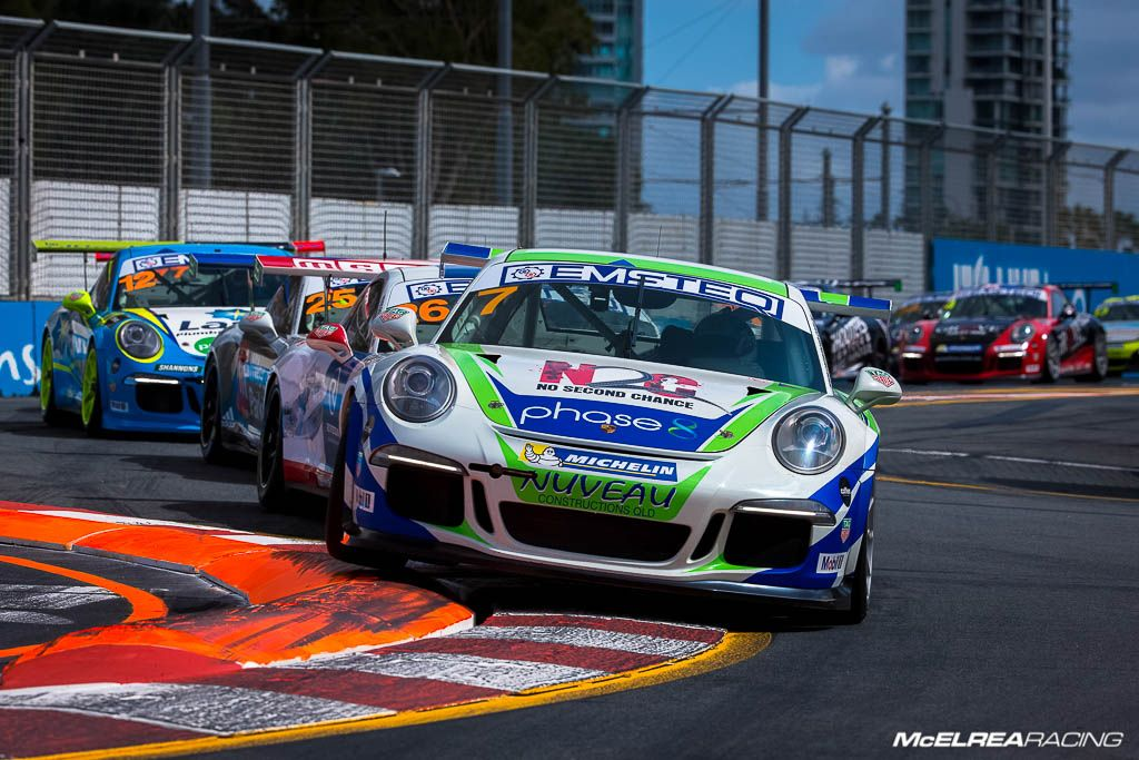 Matt Campbell in the Porsche Carrera Cup at Surfers Paradise