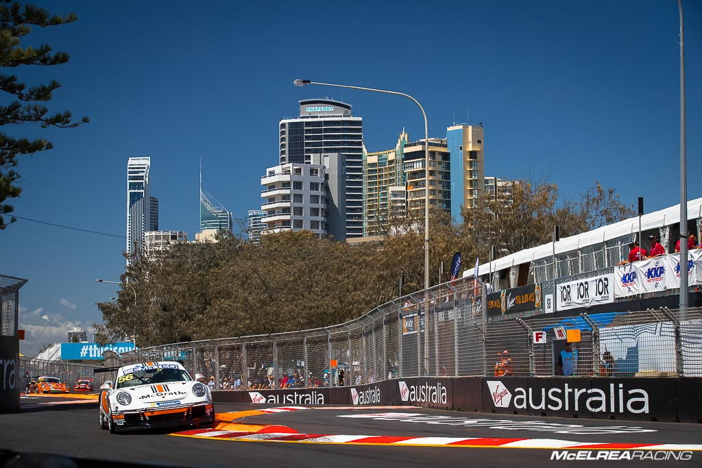 Shane Smollen in the Porsche Carrera Cup at Surfers Paradise
