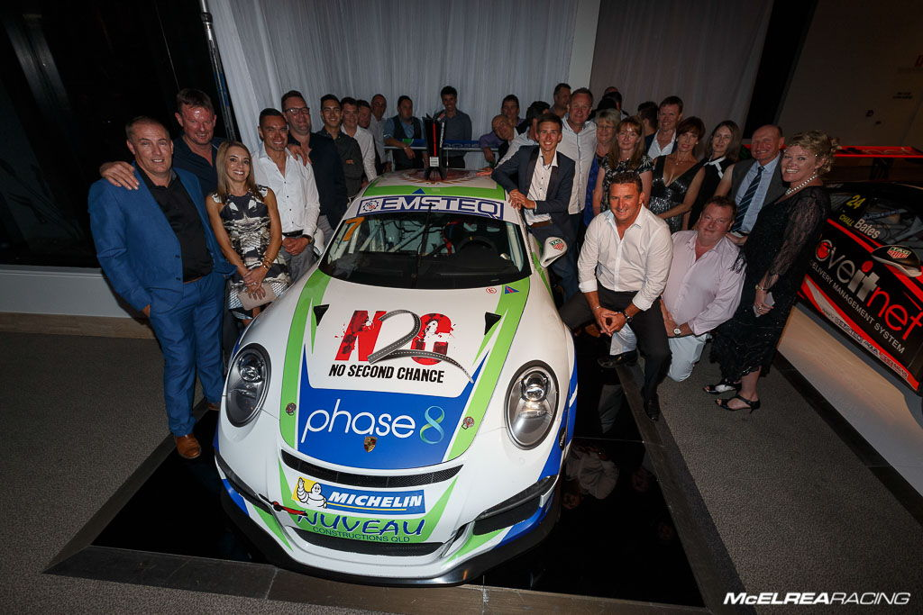 McElrea Racing at the 2016 Australian Porsche Carrera Cup awards