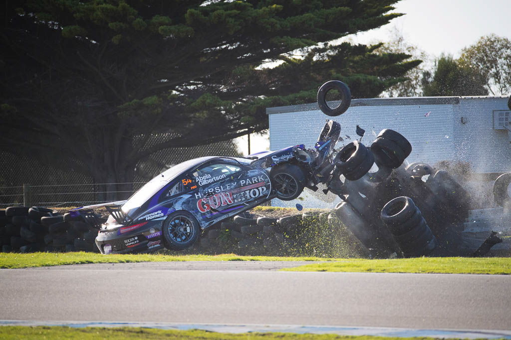 James Abela & Anthony Gilbertson at Phillip Island with McElrea Racing