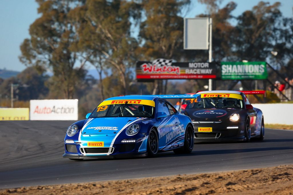 Anthony Gilbertson in the Porsche GT3 Cup Challenge at Winton