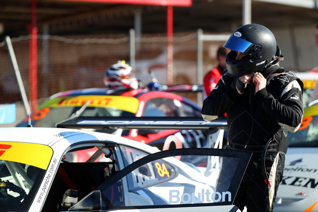 Brett Boulton in the Porsche GT3 Cup Challenge at Winton