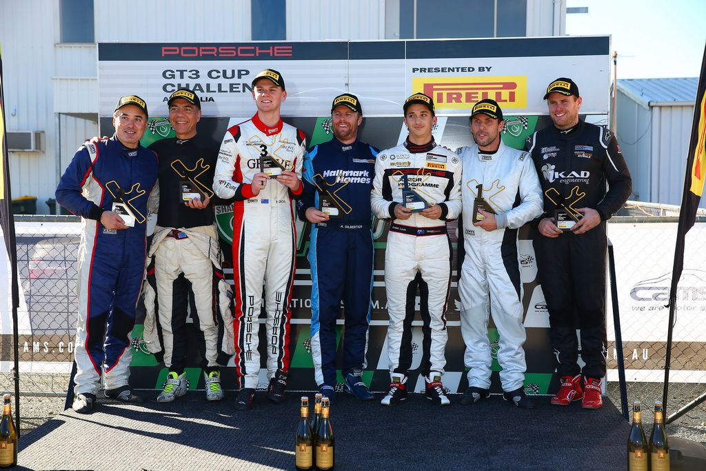 Anthony Gilbertson wins Elite in the Porsche GT3 Cup Challenge at Winton