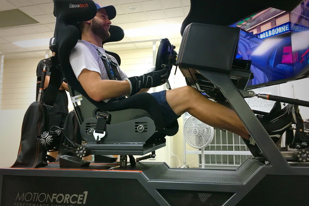 Shane Van Gisbergen on the MF1 Simulator at MR Driver Development