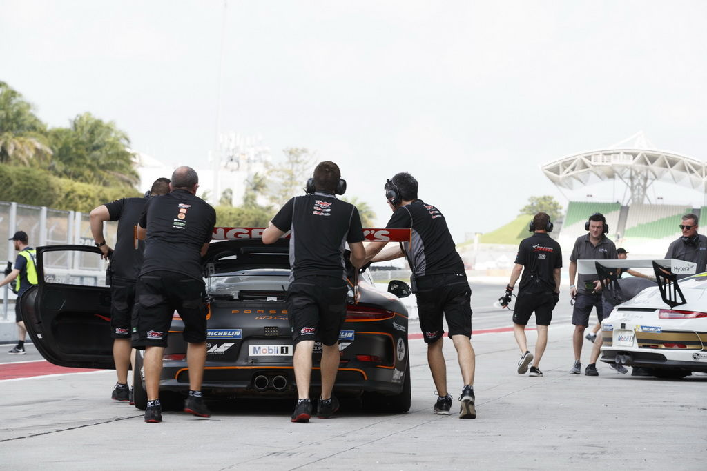 The McElrea Racing Team at Sepang International Circuit