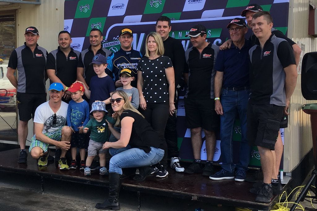 McElrea Racing with family and friends at Queensland Raceway