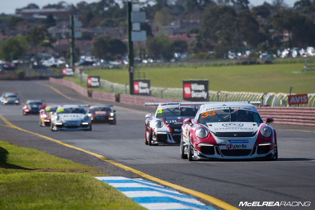 Simon Ellingham with McElrea Racing at Sandown