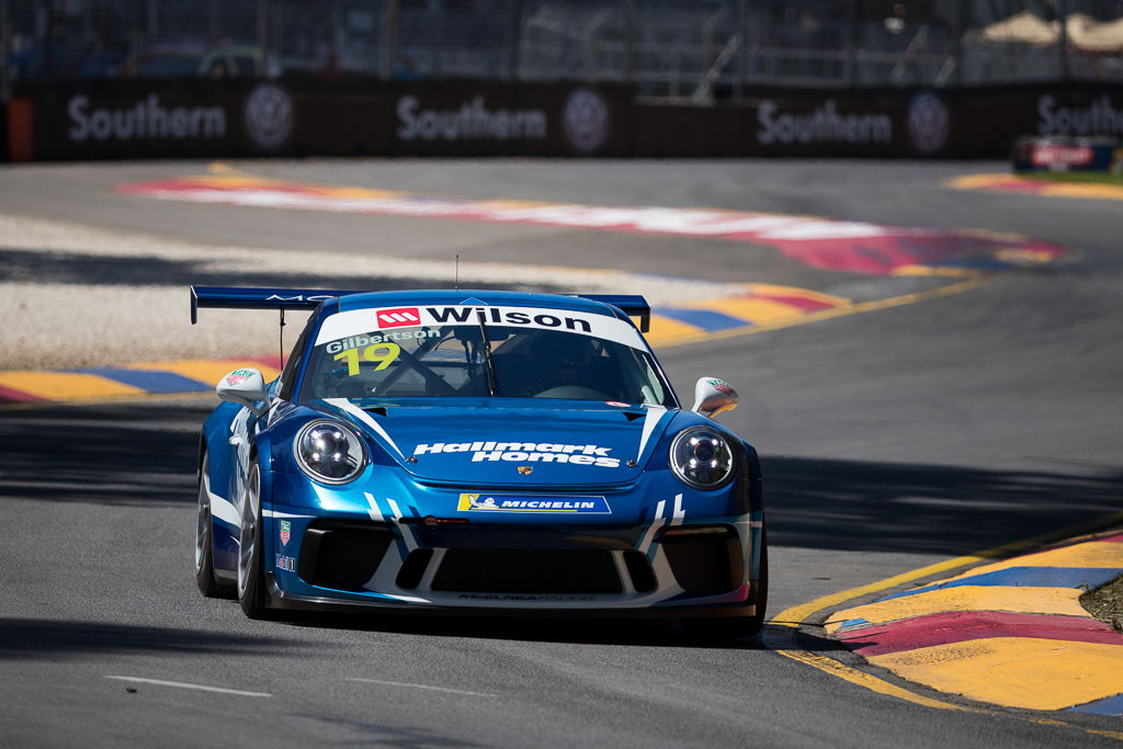 Anthony Gilbertson with McElrea Racing at the 2018 Porsche Carrera Cup Round 1