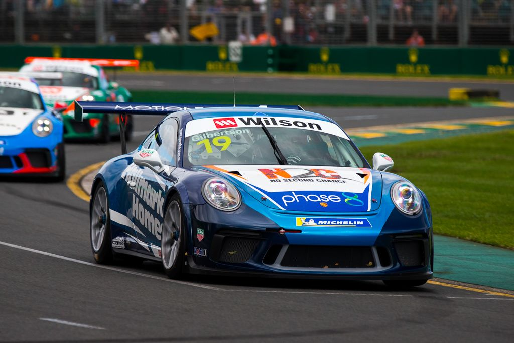 Anthony Gilbertson with McElrea Racing at the Aust Grand Prix