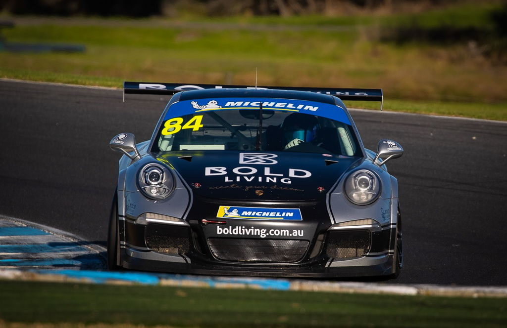 Brett Boulton with McElrea Racing in the Porsche GT3 Cup Challenge at Phillip Island