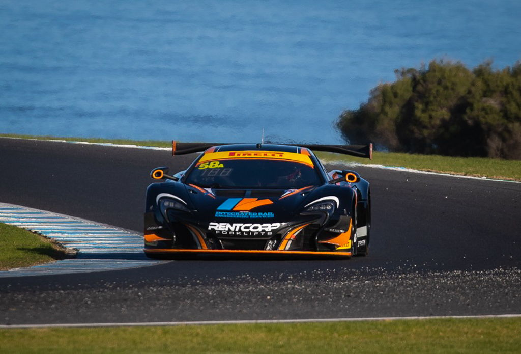 Duvashen Padayachee and Shane Van Gisbergen with McElrea Racing in the Australian GT at Phillip Island