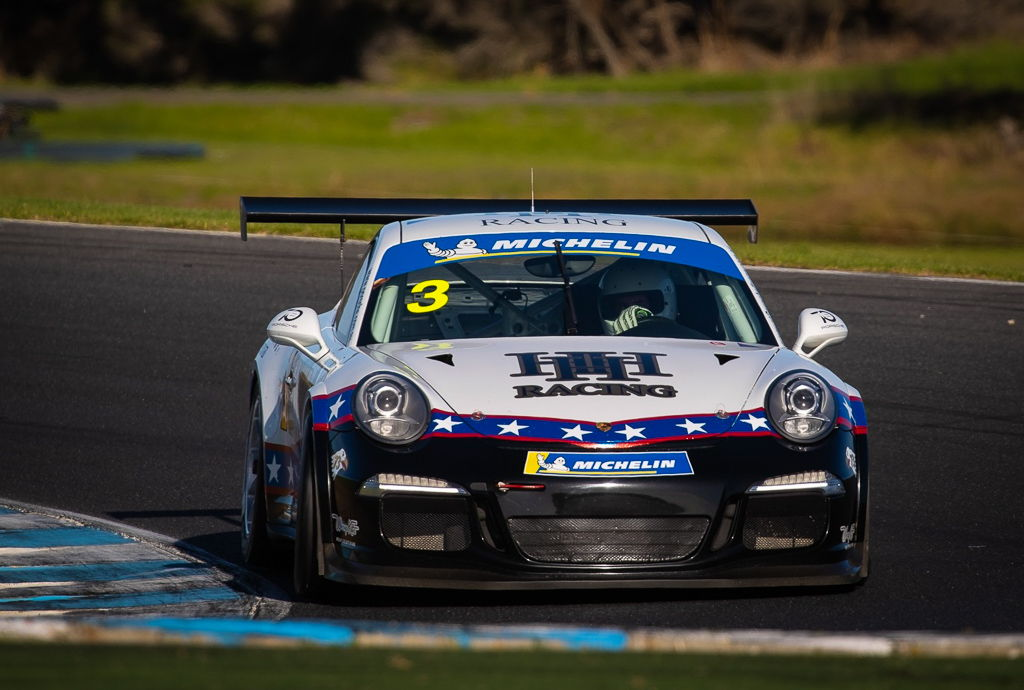 Michael Hovey with McElrea Racing in the Porsche GT3 Cup Challenge at Phillip Island