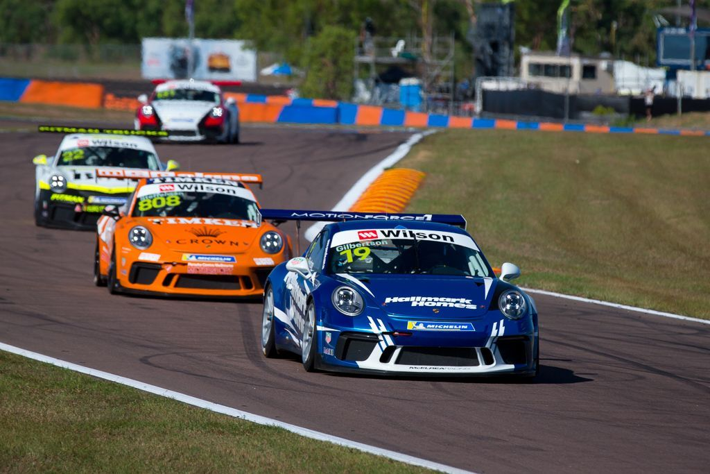 Anthony Gilbertson with McElrea Racing at the Porsche Carrera Cup Darwin Hidden Valley