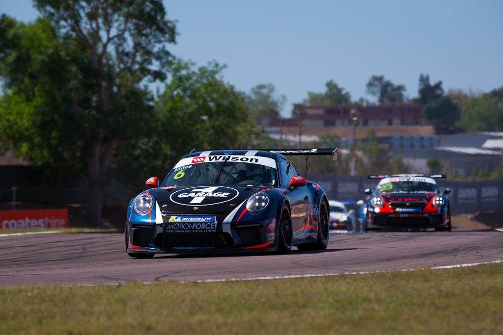 Tim Miles with McElrea Racing at the Porsche Carrera Cup Darwin Hidden Valley