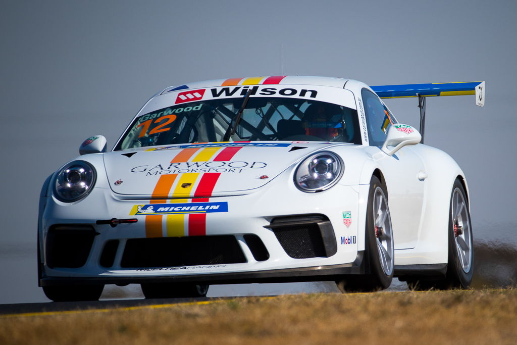 Adam Garwood with McElrea Racing at Sydney Motorsport Park for round 5 of the 2018 Porsche Carrera Cup