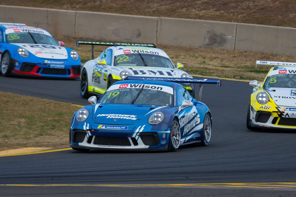 Anthony Gilbertson with McElrea Racing at Sydney Motorsport Park for round 5 of the 2018 Porsche Carrera Cup