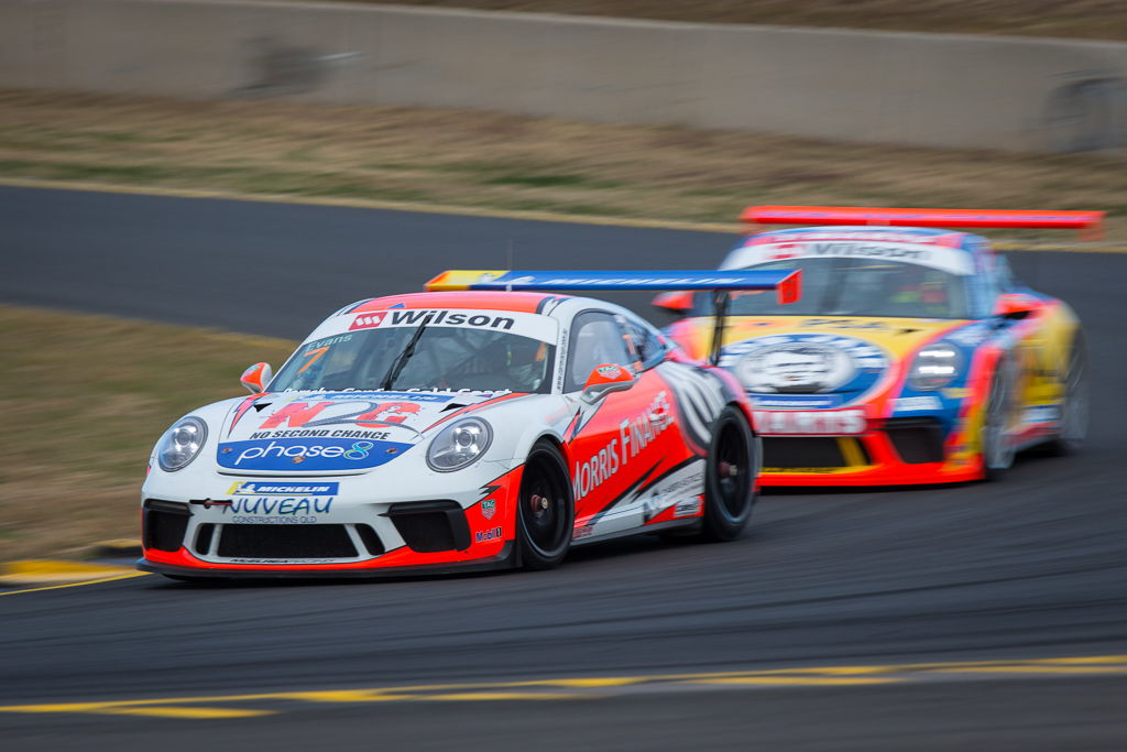 Jaxon Evans with McElrea Racing at Sydney Motorsport Park for round 5 of the 2018 Porsche Carrera Cup