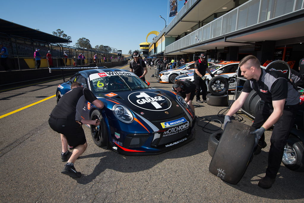Tim Miles with McElrea Racing at Sydney Motorsport Park for round 5 of the 2018 Porsche Carrera Cup