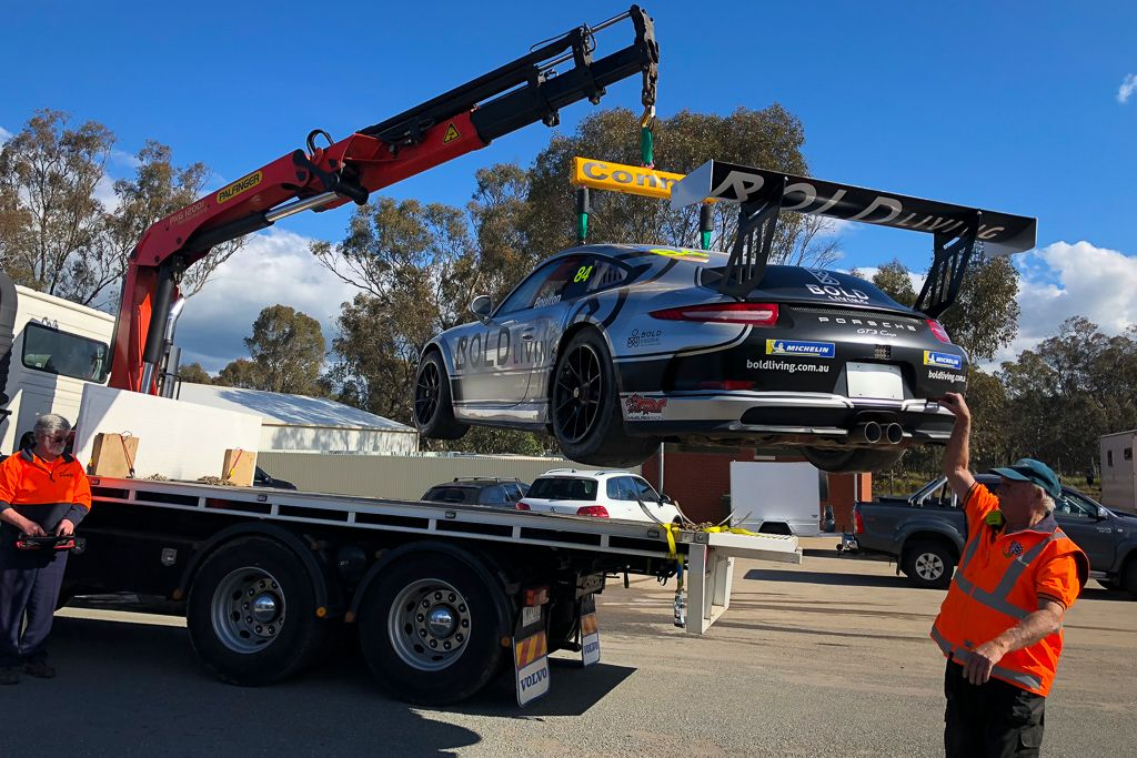 Brett Boulton with McElrea Racing at Winton for round 5 of the Porsche GT3 Cup Challenge