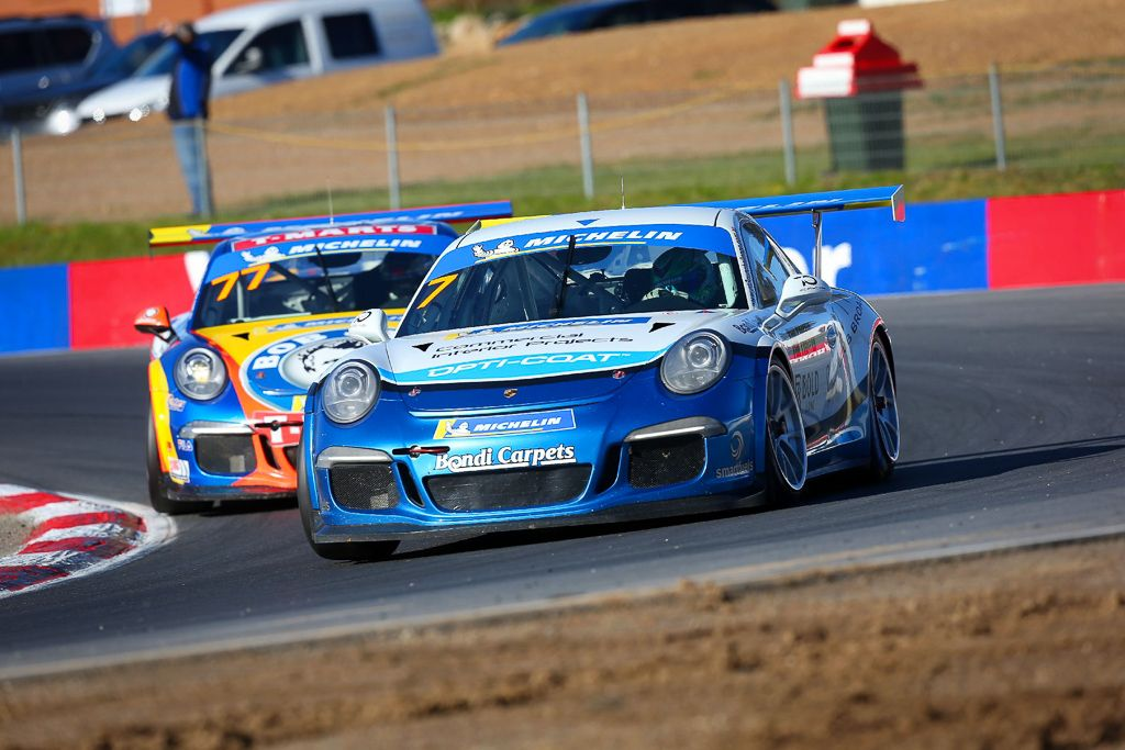 Jimmy Vernon with McElrea Racing at Winton for round 5 of the Porsche GT3 Cup Challenge