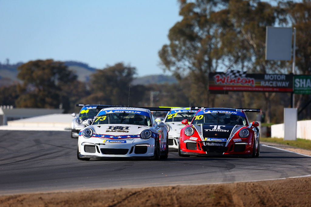 Michael Hovey with McElrea Racing at Winton for round 5 of the Porsche GT3 Cup Challenge