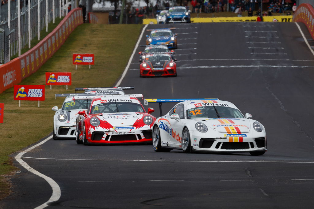 Adam Garwood with McElrea Racing at Bathurst for round 7 of the 2018 Porsche Carrera Cup Championship