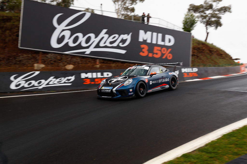 Tim Miles with McElrea Racing at Bathurst for round 7 of the 2018 Porsche Carrera Cup Championship