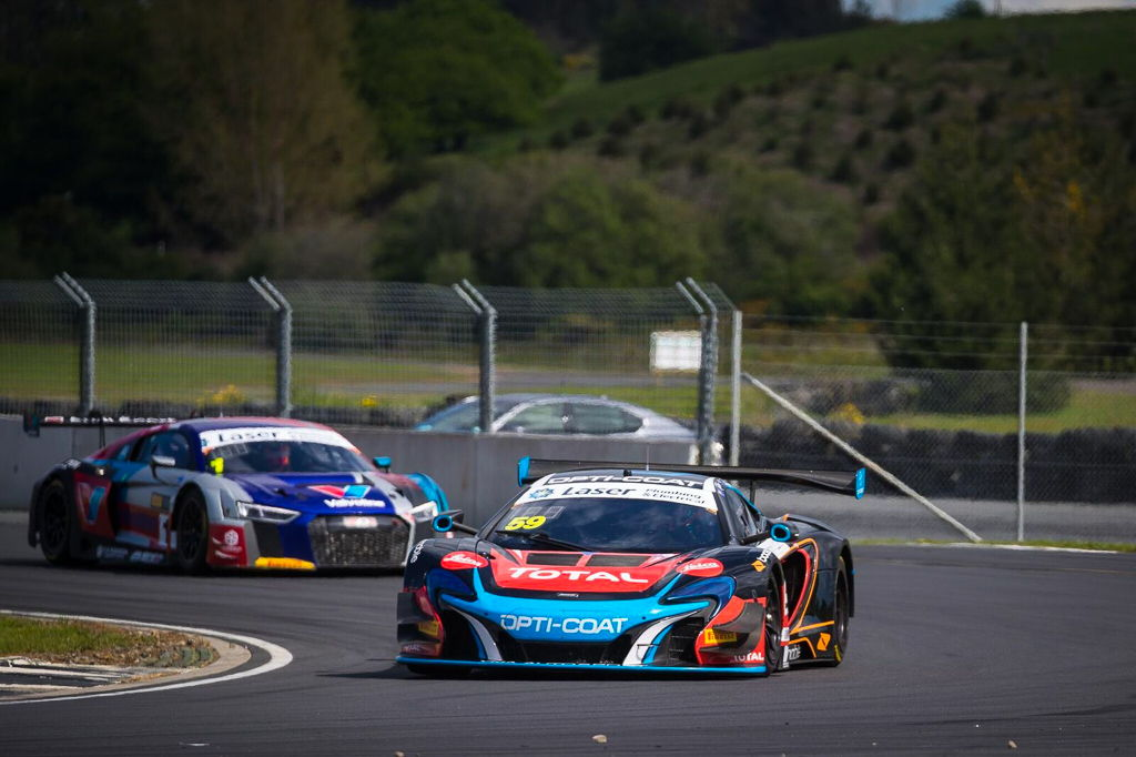 Fraser Ross and Duvashen Padayachee with McElrea Racing at Hampton Downs in New Zealand