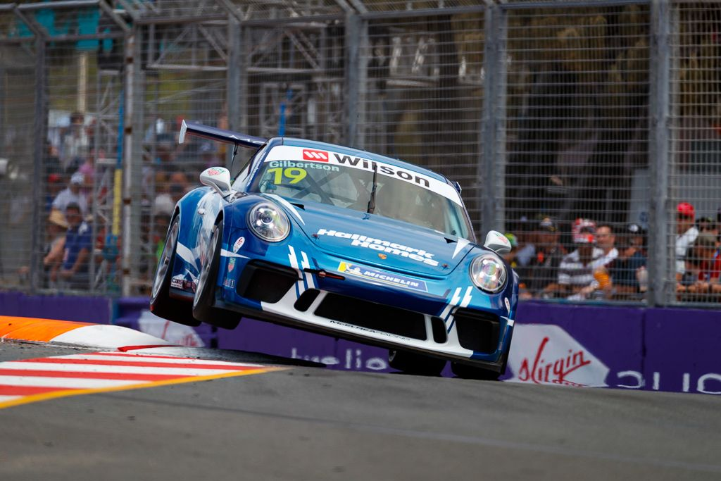 Anthony Gilbertson with McElrea Racing at Surfers Paradise for round 8 of the 2018 Porsche Carrera Cup Championship