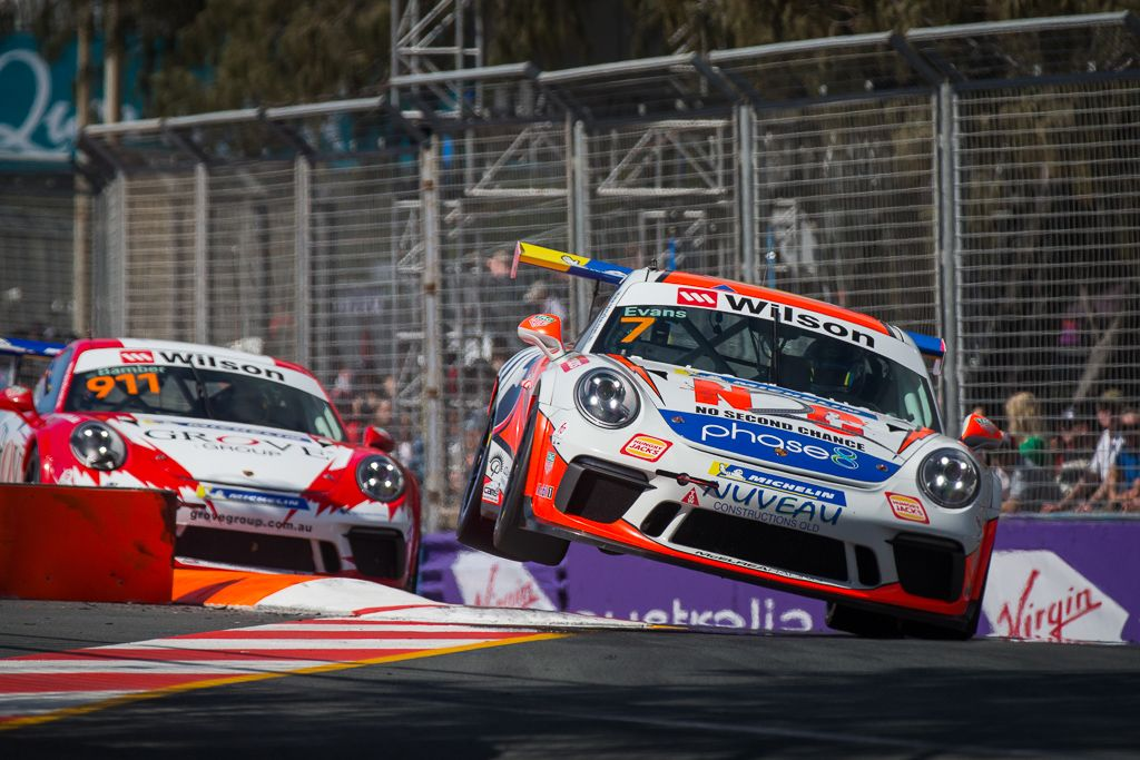 Jaxon Evans with McElrea Racing at Surfers Paradise for round 8 of the 2018 Porsche Carrera Cup Championship
