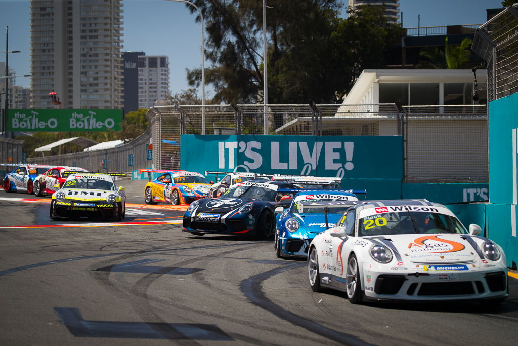 Tim Miles with McElrea Racing at Surfers Paradise for round 8 of the 2018 Porsche Carrera Cup Championship