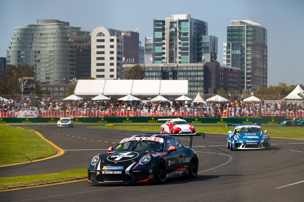 Tim Miles with McElrea Racing in the Porsche Carrera Cup at the Australian Grand Prix in Melbourne