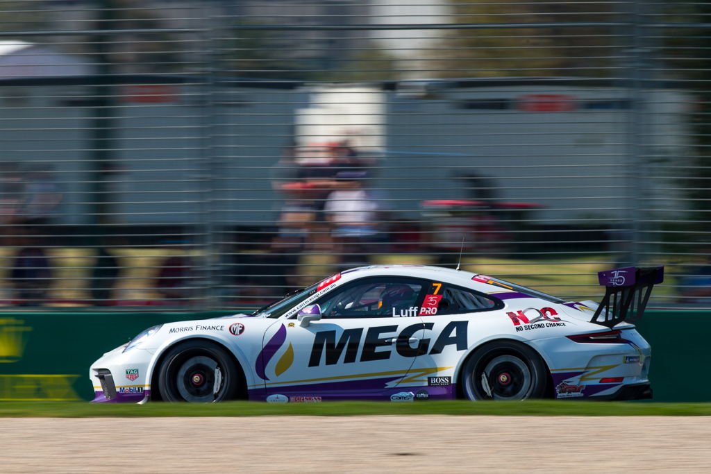 Warren Luff with McElrea Racing in the Porsche Carrera Cup at the Australian Grand Prix in Melbourne