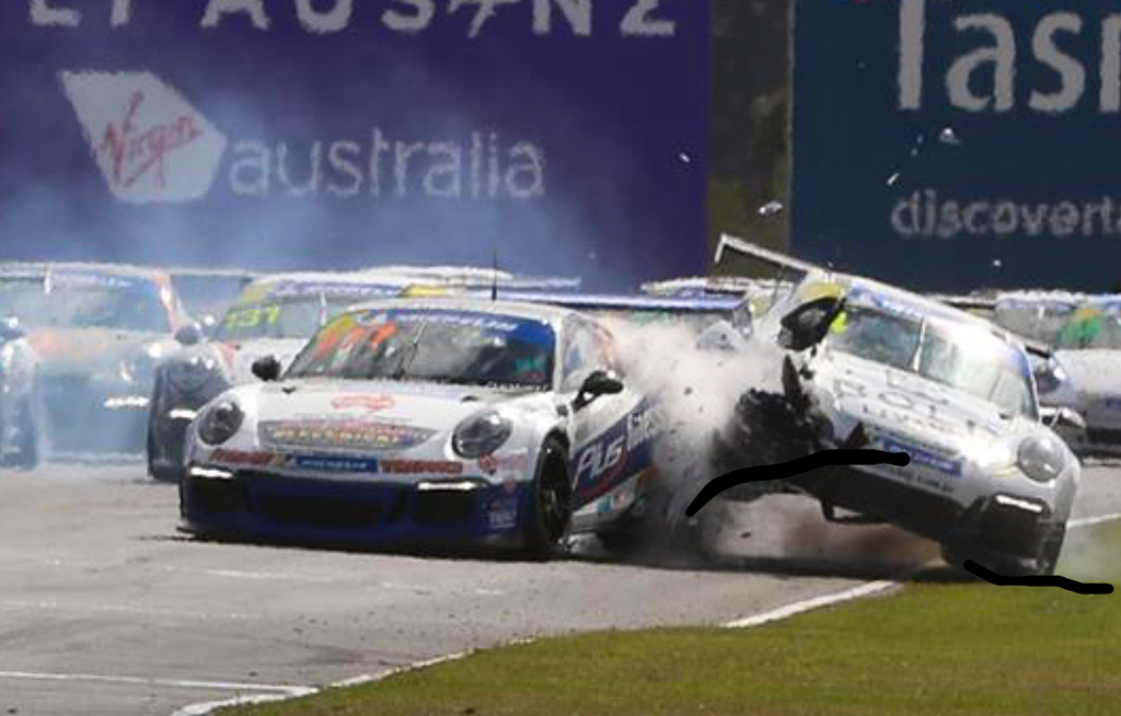 Brett Boulton with McElrea Racing in the Porsche GT3 Cup Challenge at Symmons Plains in Tasmania