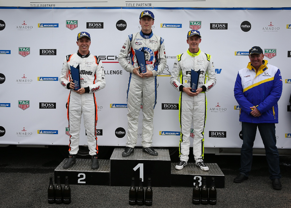 McElrea Racing in the Porsche GT3 Cup Challenge at Symmons Plains in Tasmania
